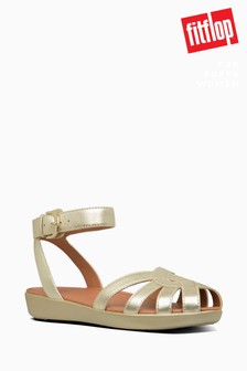 FitFlop™ Gold Cova Weave Closed Toe Sandal