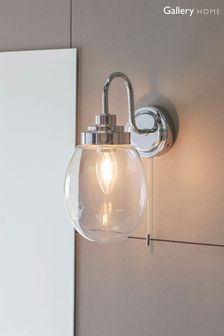 Gallery Direct Silver Saul Wall Light