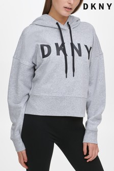 DKNY Exploded Logo Cropped Hoody