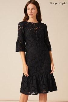Phase Eight Black Arla Lace Dress