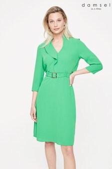 Damsel In A Dress Green Cindie Belted Dress