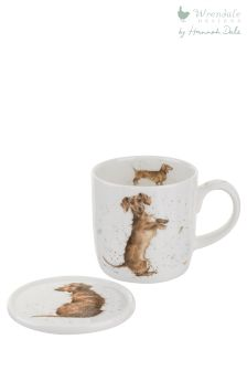 Wrendale Dachshund Mug And Coaster Set