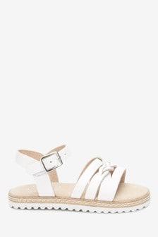 Leather Plait Sandals (Younger)