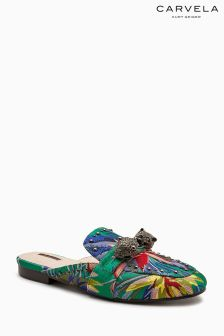Carvela Blue Luscious Embellished Backless Loafer