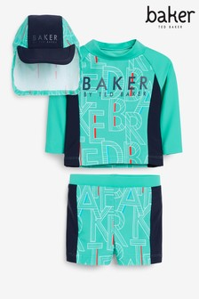 Baker by Ted Baker Swim Shorts And Hat Set