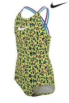 Nike Yellow Animal Print Swimsuit