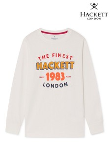 Hackett White 1983 Long Sleeve T-Shirt