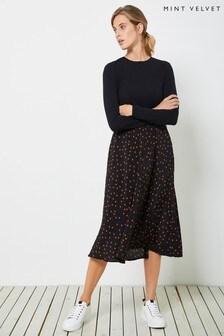 Mint Velvet Star Print Jersey Mix Dress