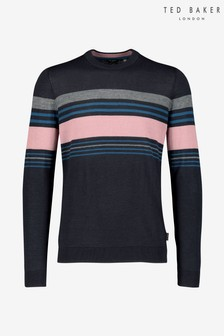 Ted Baker Navy Stripe Knitted Jumper