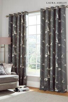 Grey Animalia Eyelet Curtains