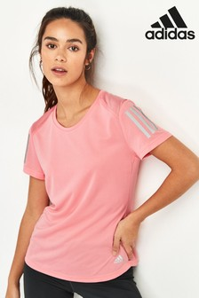adidas Pink Own The Run T-Shirt