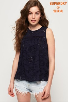 Superdry Shelly Schiffli Vest Top