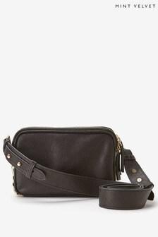 Mint Velvet Maya Black Cross Body Bag
