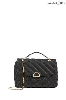 Accessorize Black Ayda Quilted Shoulder Bag