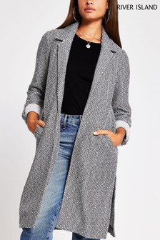 River Island Grey Long Jersey Duster Jacket