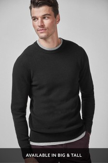 Textured Crew Neck Jumper