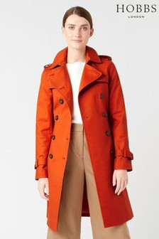 Hobbs Orange Saskia Trench Coat