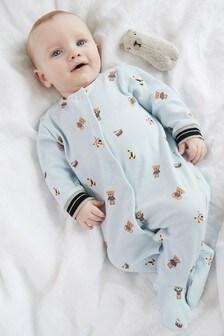 Sleepsuit And Bib Set (0-2yrs)
