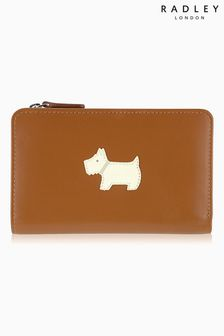 Radley Tan Heritage Dog Medium Zip Purse