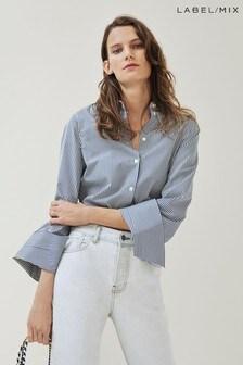 Mix/Kitri Studio Stripe Cotton Shirt