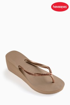 Havaianas® Rose Gold High Metal Grega Wedge