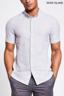 River Island Grey Texture Shirt