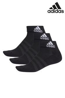 adidas Adult Black Ankle Socks 3 Pack