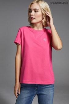 Calvin Klein Jeans Slim Fit T-Shirt mit Stickerei