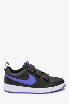 Nike Navy Glitter Pico Youth Velcro Trainers