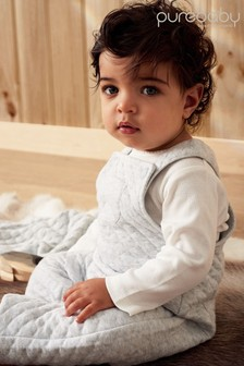 Purebaby Pink Quilted Overall