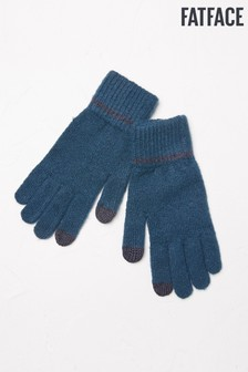 FatFace Teal Plain Gloves