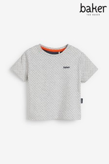 Baker by Ted Baker Baby Boys Grey Marl Geometric T-Shirt