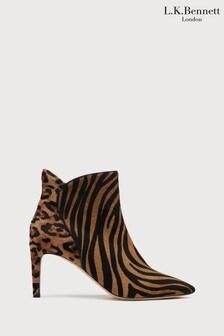 L.K.Bennett Animal Maja Ankle Boots