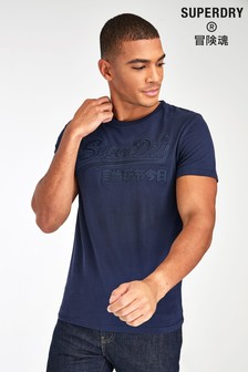 Superdry Navy Embroidered T-Shirt