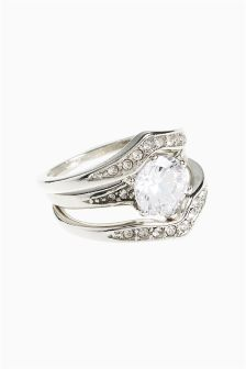 Jewelled Ring Three pack