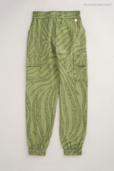 Angel & Rocket Green Animal Cargo Trousers