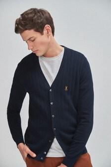 Vertical Stripe Texture Cardigan