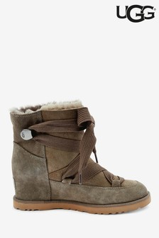 UGG® Grey Classic Femme Lace-Up Wedge Boots