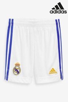adidas Real Madrid 21/22 Home Kids Football Shorts