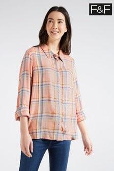 F&F Multi Pink Check Shirt