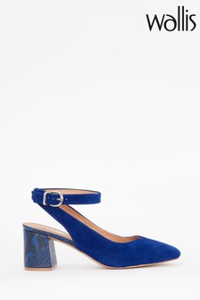 Wallis Caramel Blue Ankle Strap Feature Heels