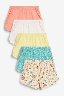 5 Pack Organic Cotton Shorts (3mths-7yrs)