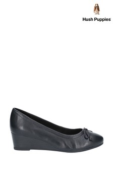 Hush Puppies Black Morkie Charm Slip-On Shoes