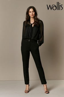Wallis Black Tapered Trousers