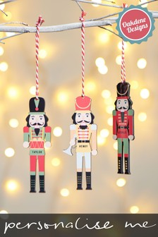 Personalised Nutcrackers Hanging Decoration by Oakdene Designs