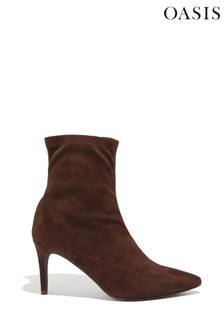 Oasis Brown Pull-On Sock Boots
