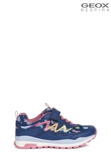 Geox Junior Girls Pavel Navy/Multicolour Shoes
