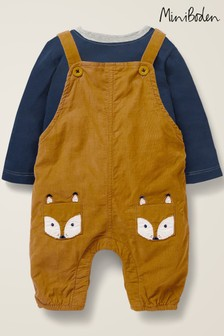 Boden Yellow Cord Dungaree Play Set