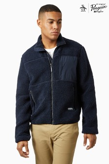 Original Penguin® Full Zip Faux Sherpa Jacket