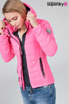 Superdry Pink Box Quilt Jacket